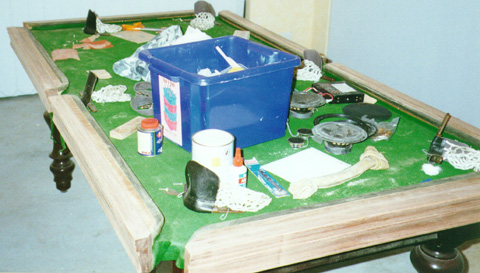 Projects DIY Pool Table Restoration - Pool table resurfacing
